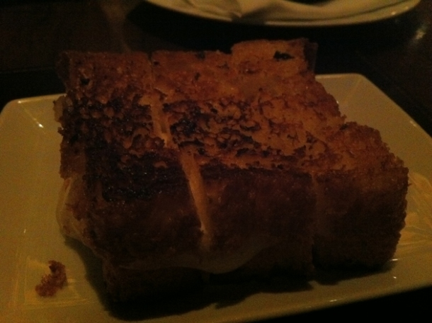 mozzarella and provolone grilled sandwich accompanying the tomato fondue at nobhill tavern