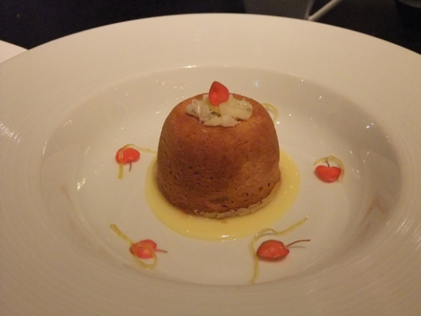 baked lemon suet pudding at dinner by heston blumenthal