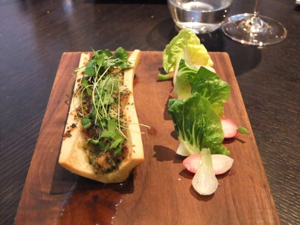 roast marrow bone at dinner by heston blumenthal
