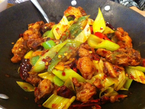 chilli chicken at san xia ren jia
