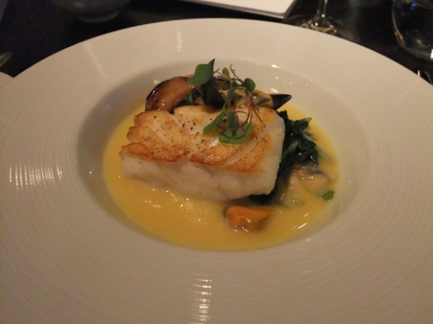 cod in cider at dinner by heston blumenthal