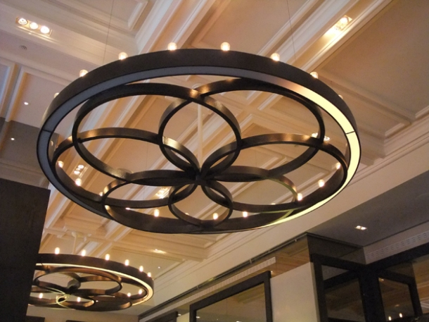 light fixtures at Dinner by heston blumenthal