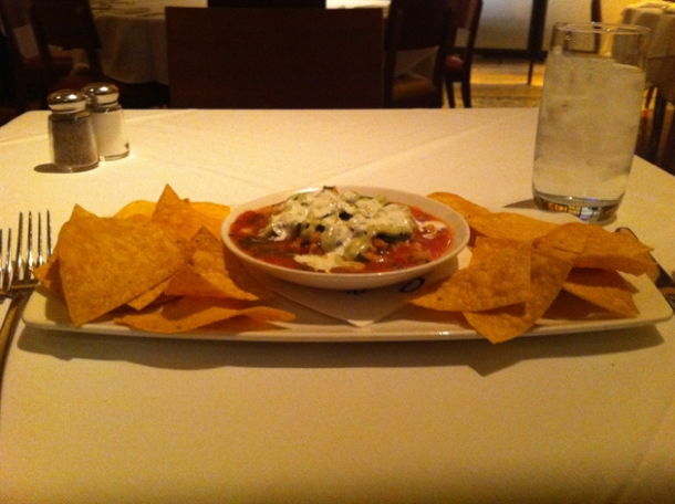 emeril's ceviche and tortilla chips