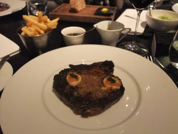 hereford rib eye medium at dinner by heston blumenthal