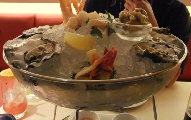 shellfish platter at senkai regent street