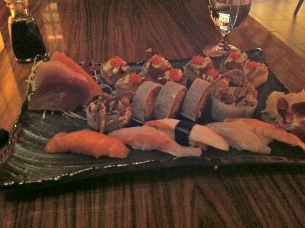 matsu sushi platter at shibuya