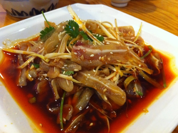 sliced pig's ear at san xia ren jia