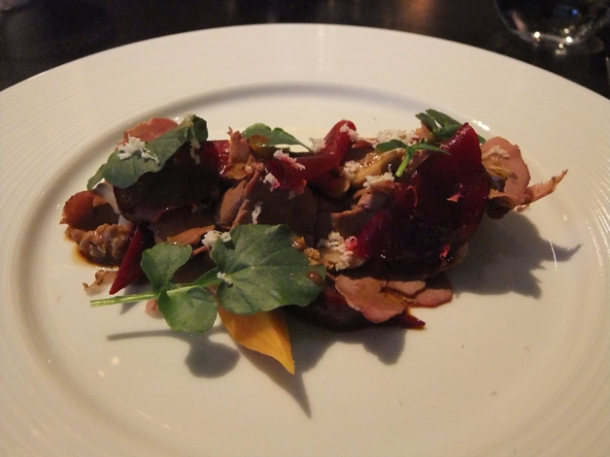 salamagundy - smoked calves' hearts at dinner by heston blumenthal