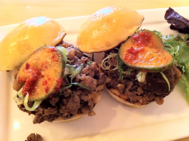 bulogogi beef sliders at danji