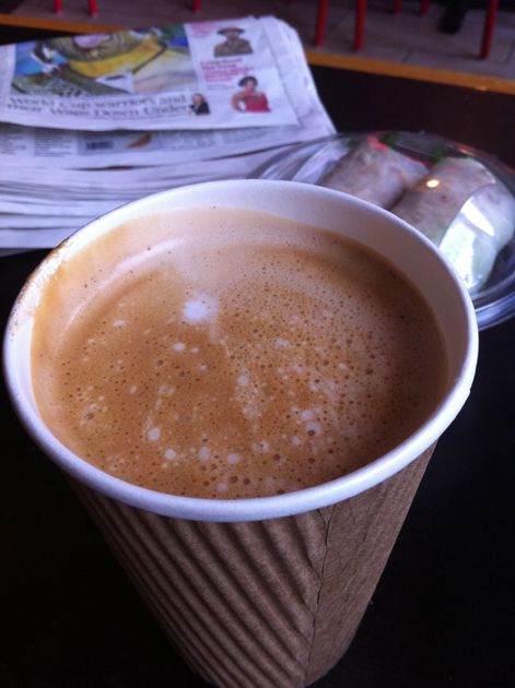 a flat white from the caphe house