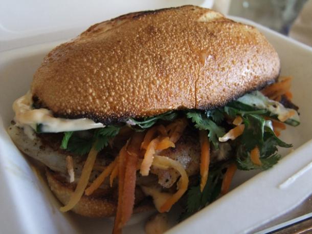 catfish sandwich at num pang
