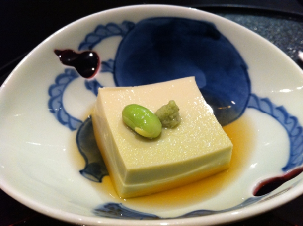 edamame tofu at hakubai new york