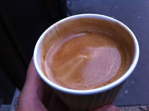 a flat white from lick