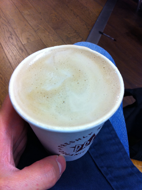 a flat white from pret a manger