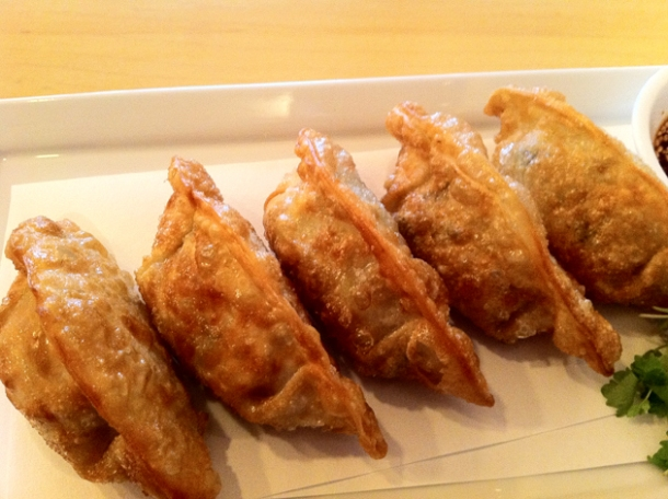vegetable dumplings at danji
