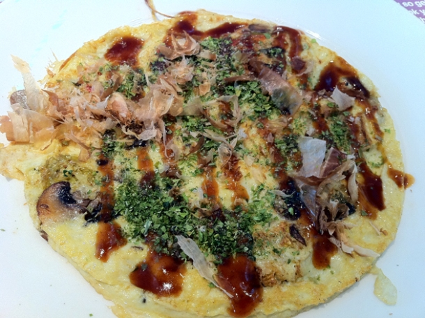 breakfast okonomiyaki at wagamama heathrow terminal five