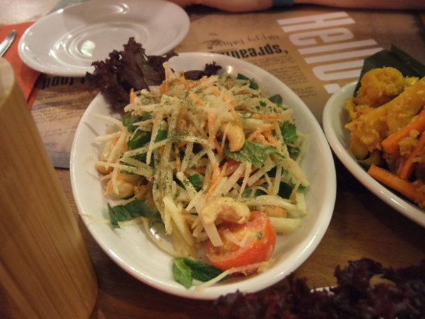 green papaya salad at banana tree indochina kitchen wardour street