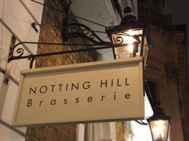 exterior of the notting hill brasserie