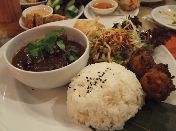 rendang special combo at banana tree indochina kitchen wardour street