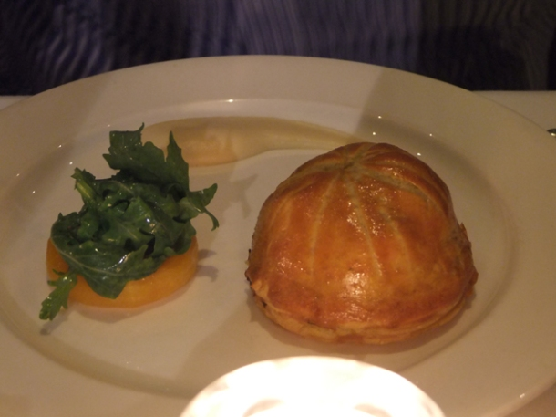 squash in puff pastry at the notting hill brasserie