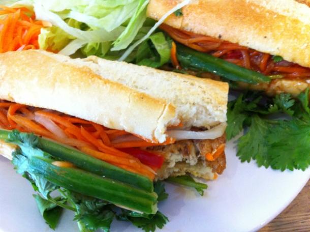 tofu banh mi at caphe house