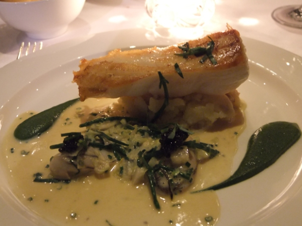 turbot with caviar and oyster at the notting hill brasserie