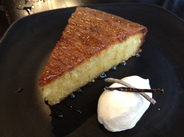 almond and polenta cake at bread street kitchen