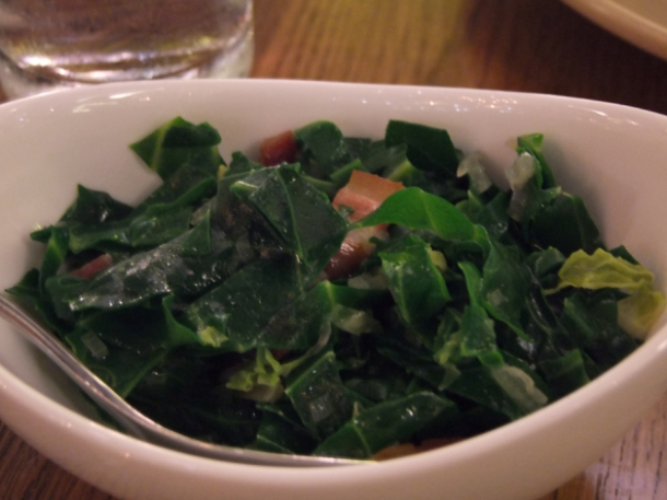 brussels sprouts and bacon at bread street kitchen