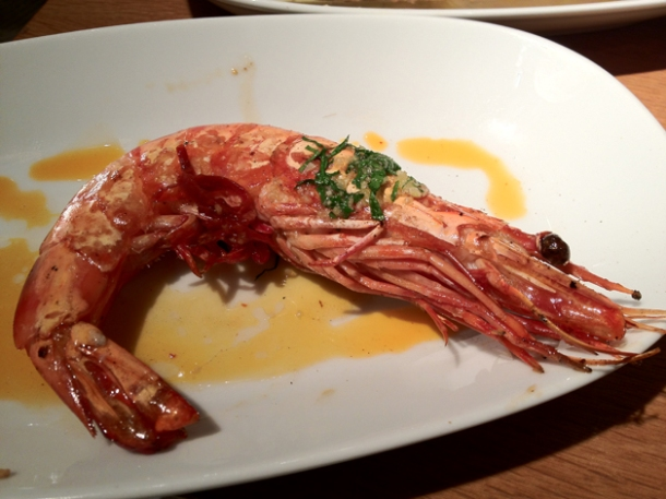 king prawns at fino
