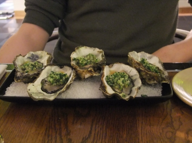 oysters at bread street kitchen