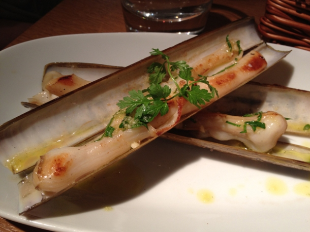 razor clams at fino