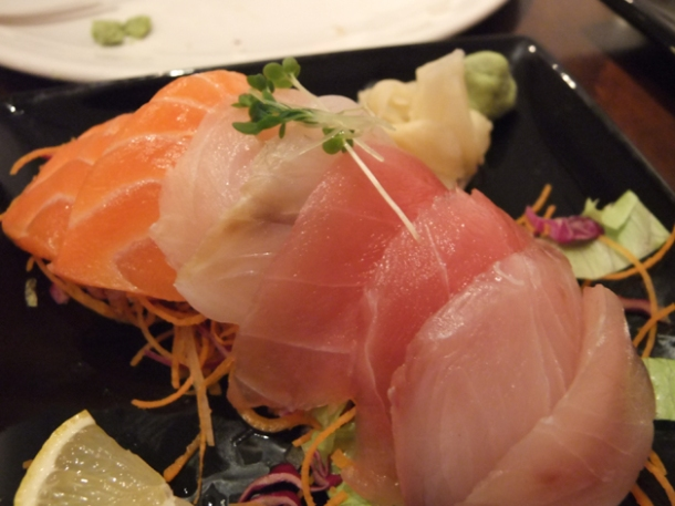 sashimi platter at koi