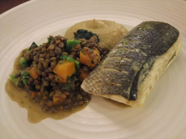 steamed bass at bread street kitchen