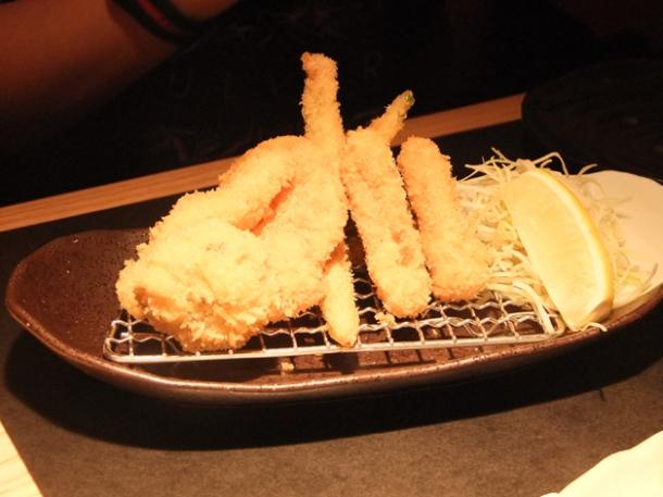 vegetable katsu platter at satsuma