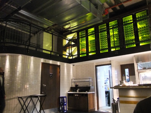 mezzanine wine racks at bread street kitchen