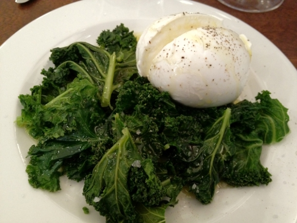 buffalo mozzarella and kale at duck soup