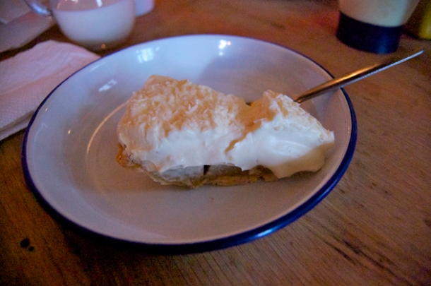 coconut cream pie at meatliqour