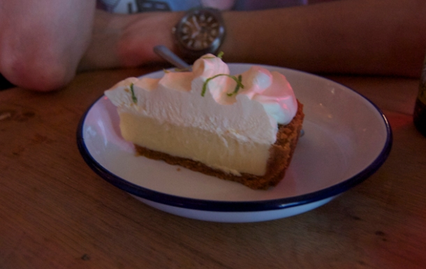 key lime pie at meatliqour