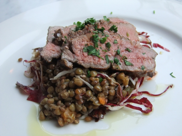 lamb and lentils at pizarro