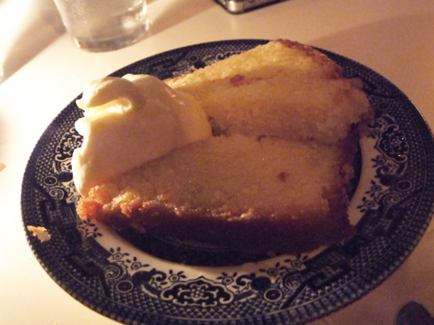 lemon drizzle cake at mishkin's