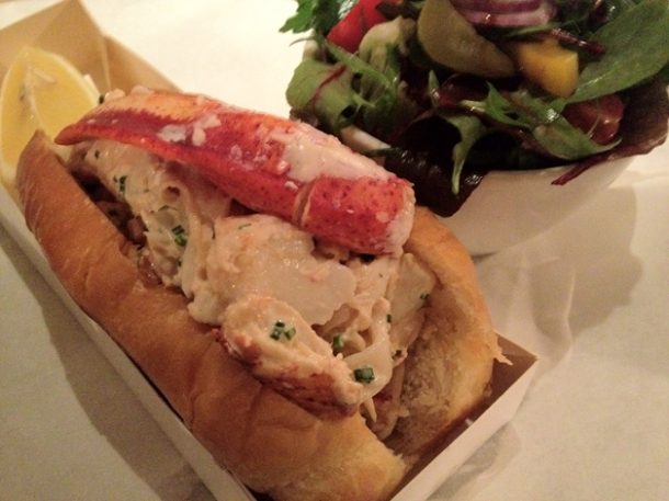 lobster roll at burger & lobster