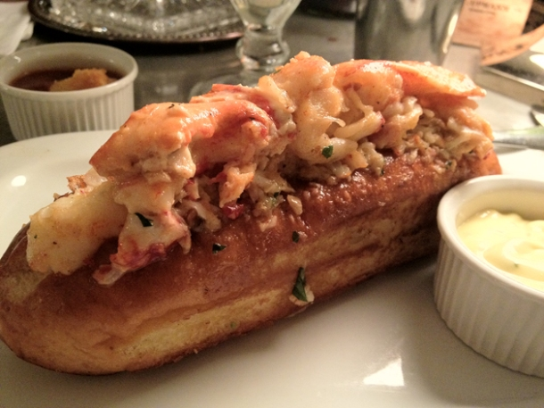 lobster roll at hawksmoor
