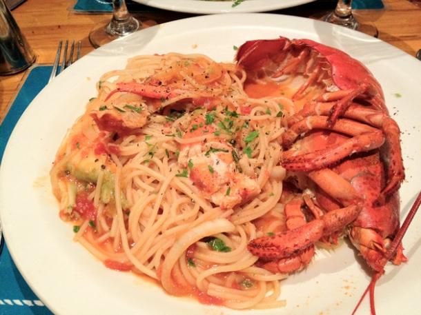 spaghetti lobster at trattoria mondello