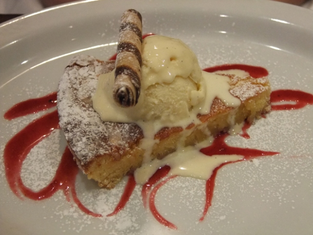 spanish almond tart at about thyme