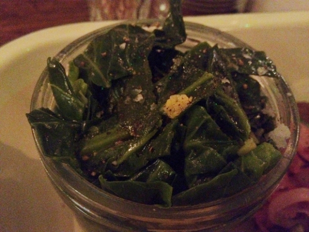 braised brussels sprouts tops at pittcue soho