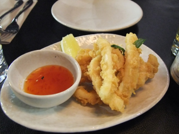 deep fried battered squid at suda