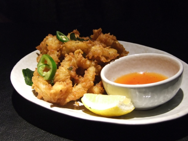 deep fried squid at suda
