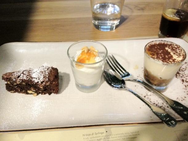 dessert selection at obika