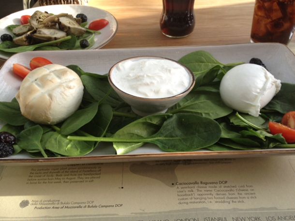 mozzarella at obika canary wharf