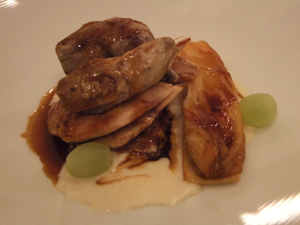 oven roasted partridge at morgan m